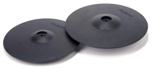 Cymbal-Pads CY-12C (links) und CY-13R (rechts)
