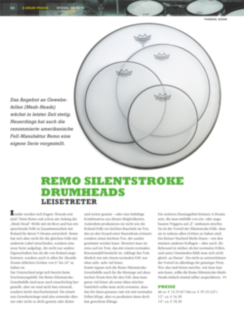 Produkt: Remo Silent Stroke Drumheads